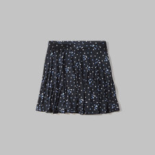 girls star print skater skirt