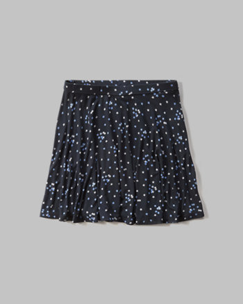 kids star print skater skirt