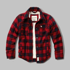 girls sherpa lined plaid jacket