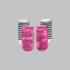 girls printed ankle socks