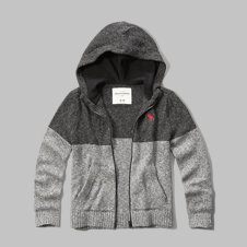 girls full-zip hooded sweater