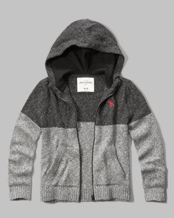 kids full-zip hooded sweater