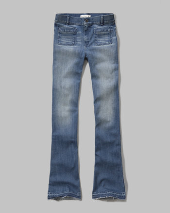 kids a&f High Rise Flare jeans
