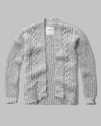 kids Textured Cable Cardigan