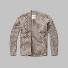 girls Textured Cable Cardigan