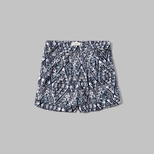 girls Pattern Pleated Shorts
