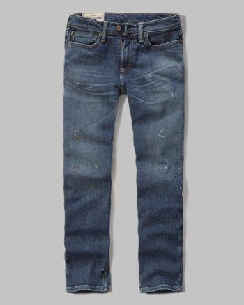 kids a&f slim straight jeans