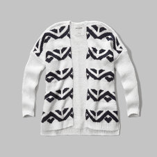 girls patterned cardigan sweater