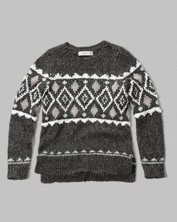 kids snowflake intarsia sweater