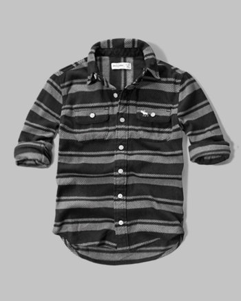 kids plaid fleece shirt