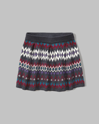 kids patterned sweater skirt