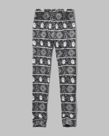 kids patterned jersey leggings