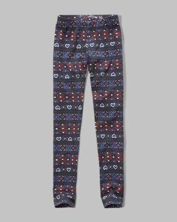 kids patterned jersey leggings