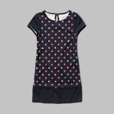girls floral shift dress