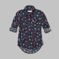 girls floral rayon shirt