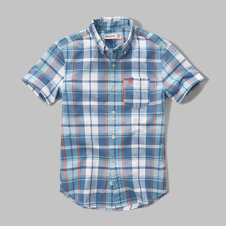 girls short-sleeve poplin shirt
