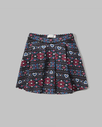 kids pleated neoprene skirt