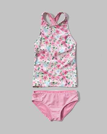 kids tankini two-piece swimsuit