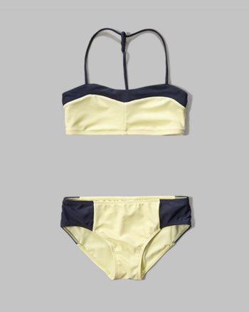 kids sweetheart bandeau two-piece swimsuit
