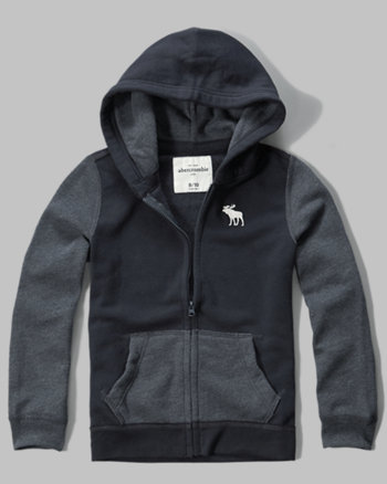kids iconic two-tone fleece hoodie