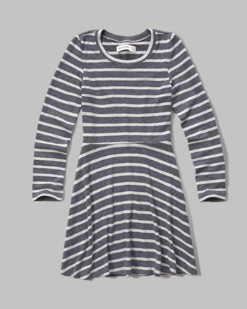 kids stripe knit dress