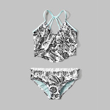 girls long line two-piece swimsuit