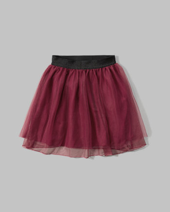 kids shine-waist tutu skirt