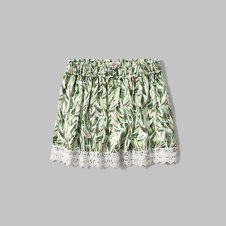 girls lace hem skirt