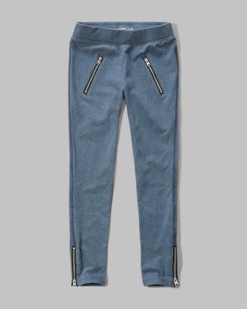 kids zipper leggings