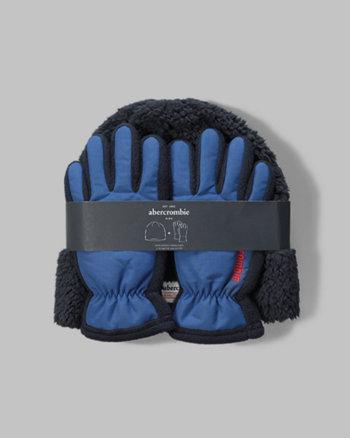 kids beanie and gloves gift set