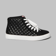 girls a&f quilted high-top sneakers