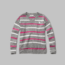 girls v-neck easy sweater