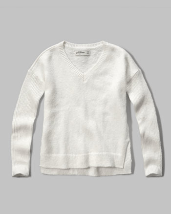 kids v-neck easy sweater