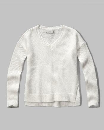 kids v-neck easy sweater