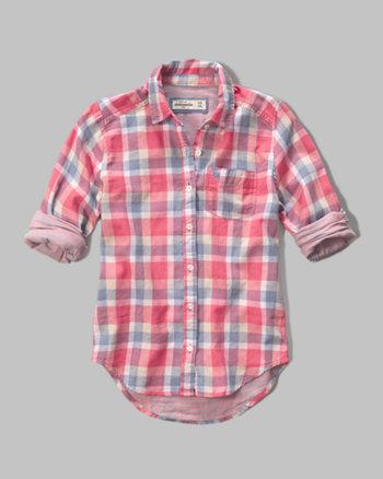 kids contrast pattern woven shirt
