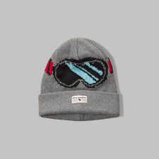 girls printed foldover beanie