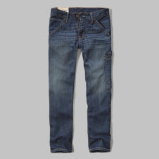 girls a&f slim straight carpenter jeans