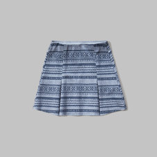 girls printed ponte skirt