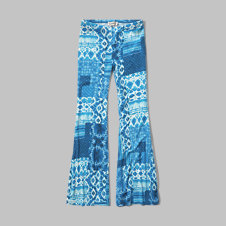 girls flared knit pants