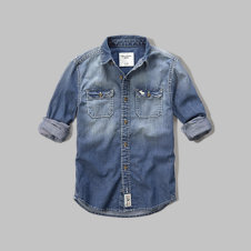 girls washed chambray shirt