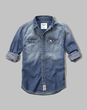 kids washed chambray shirt