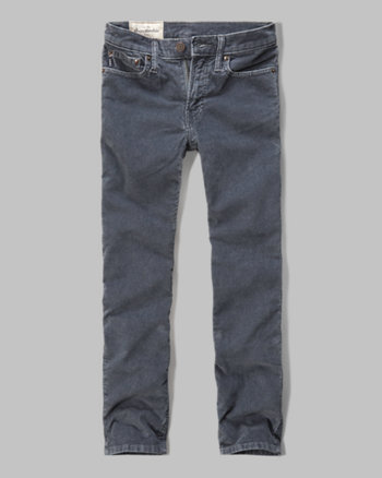 kids a&f skinny five-pocket corduroy pants