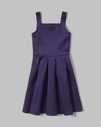kids pleated neoprene dress