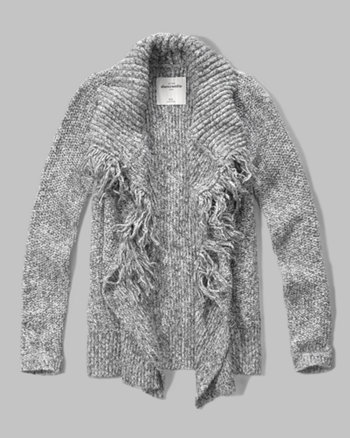 kids fringe cardigan sweater