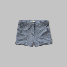 girls knit waist-tie shorts
