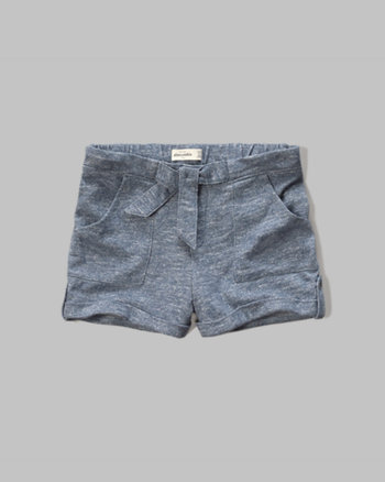 kids knit waist-tie shorts