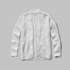 girls textured shine cardigan