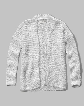 kids textured shine cardigan