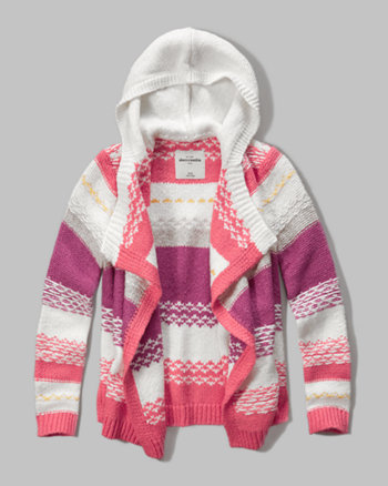 kids hooded blanket cardigan