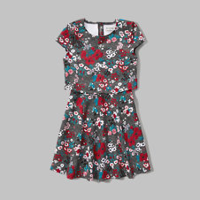 girls floral overlay dress